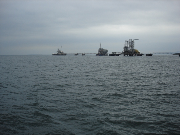North Sea gas terminal, off Peatdraught Bay