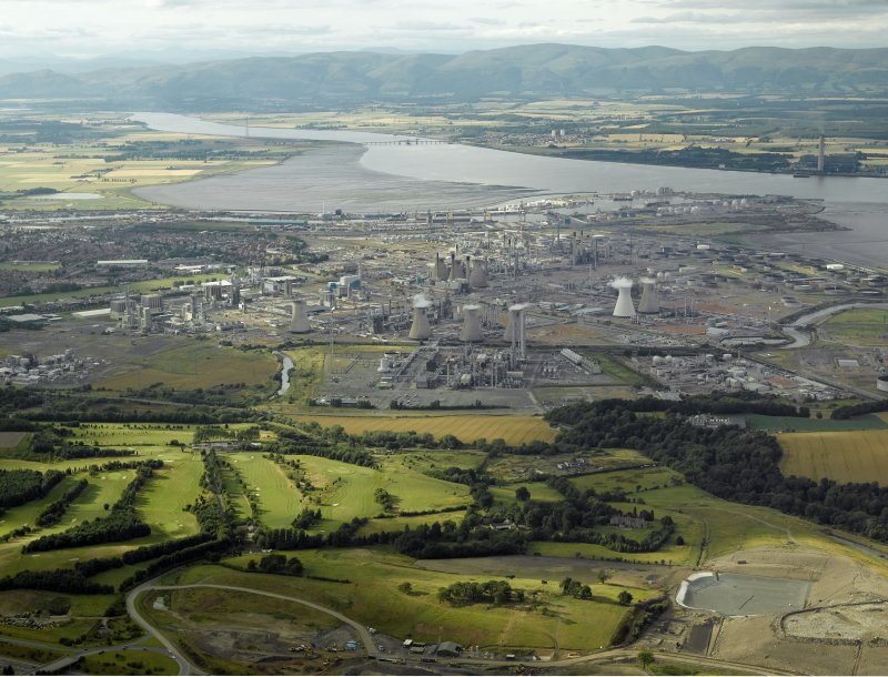 Grangemouth Refinery, Copyright RCAHMS