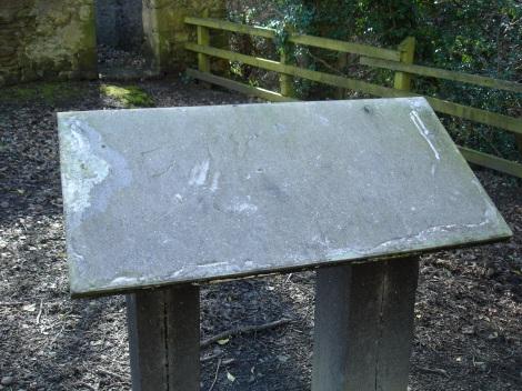 James Watt's shed, sign