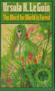 1st Edition cover - inexplicable since the indigenous people are described as simian and fur-covered (above), not green nymphs